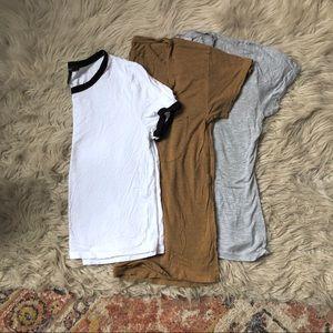 Madewell, Gap, Forever 21 T-Shirt Bundle